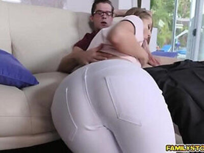 Step bro pounding Avery Adair doggystyle in the couch | -couch-doggy-pounding-students-