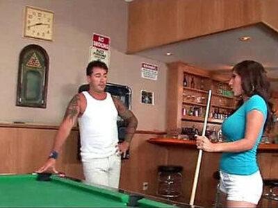 Alexis Breeze Plays Pool   -huge ass-pool-