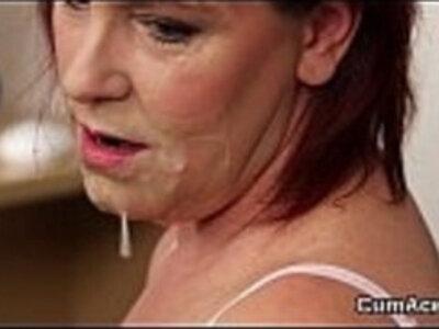 Wicked looker gets jizz shot on her face swallowing all the love juice | -bizarre-blowjob-bukkake-cumshots-face fuck-facials-