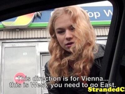 Young teen amateur hitchhiker being facialized   -amateur-facials-hitchhikers-young-young teen-