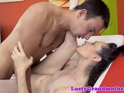 Cocksucking granny spreads her legs to fuck   -granny-legs-