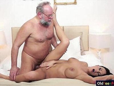 Busty Samantha Rebeka banged by old dude   -banged-busty-dude-grandpa-older-