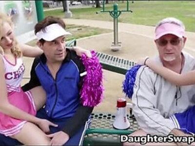 Teen Cheerleaders Dads Agree To Swap Daughters | -cheerleader-daddy-daughter-