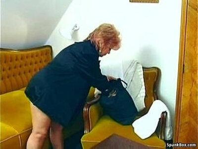 Granny with a banana | -granny-masturbation-older woman-