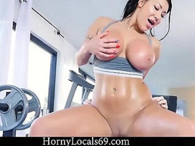 AUGUST TAYLOR GETS FUCKED AFTER WORKOUT   -fitness-