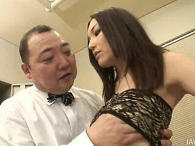 Nozomi Mashiro takes matters in hand as she bosses an old guy around | -gay-older-