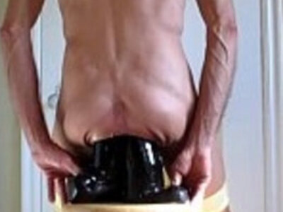 Panties Down For Double Fucking Anal Dildos | -anal-anus-ass-bizarre-cock-dildo-