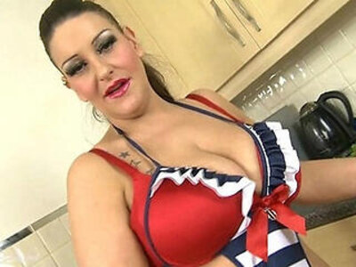 Plump British MILF Deepthroats Vegetables | -british-deepthroat-plump-