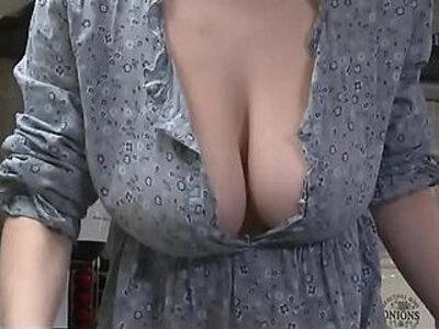 Downblouse Striptease Big Boobs | -big boobs-nipples-striptease-