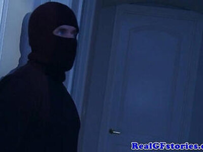 Housewife assfucked by a midnight burglar | -cum in mouth-housewife-