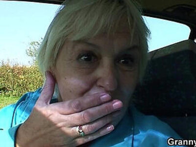 80 years old bitch gets screwed in the car | -bitch-car-grandma-older-