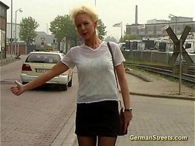 German is fucked in car washing   -bukkake-car-german-