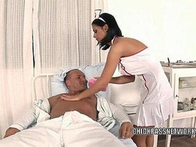 Slutty nurse Black Angelika fucks in the hospital bed | -bed-black-nurse-slutty-