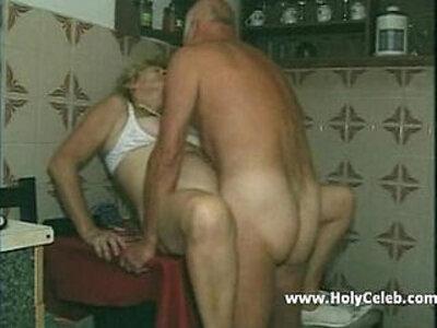 my grandparents sex in kitchen | -grandma-kitchen-old man-