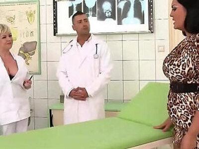 Hospital threesome SEX | -3some-nurse-old man-