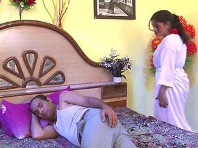 Hot Aunty fucking in bedroom looks horny | -aunty-bed-horny-