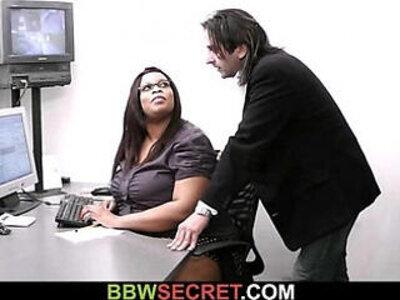 Married boss screws ebony secretary and gets busted | -boss-bride-ebony-grandma-secretary-