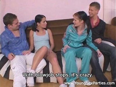 Cuties panni leony aprill with ponytails fuck dirty | -dirty-swingers-