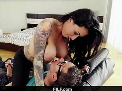 FILF Lily Lane catches Stepson jerking off to his stepmom | -jerking-stepfamily-stepmom-stepson-