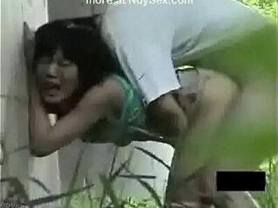 Enjoy ang matinding ng dalawa sa labas | -enjoying-indonesian-