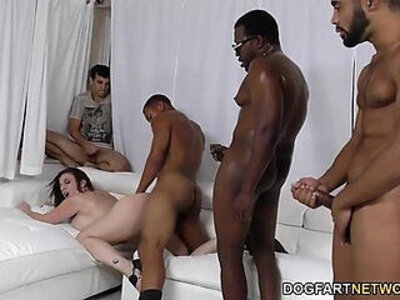Sara jay gets ganbanged by black dudes in front of her son | -black-dude-perverts-son-