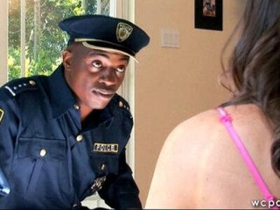 Trespassing Teen Gets Interracial   -huge tits-interracial-teen-