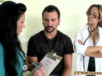 CFNM nurse Mason gets some jizz | -cfnm-jizz-nurse-