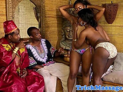 African masseuses grinding and fucking | -african-massage-