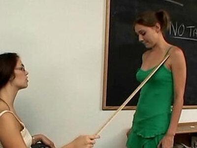Teacher and schoolgirl lesbian massage fetish | -fetish-lesbian-massage-school girl-teacher-teen-