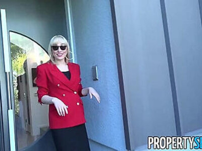 PropertySex Red blazer agent Lily Labeau fornicates in mansion | -agent-