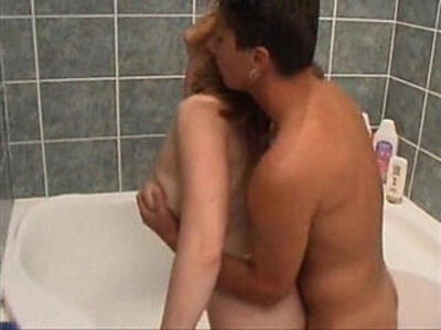 Son fucks mom in bathroom | -bathroom-mom-son-