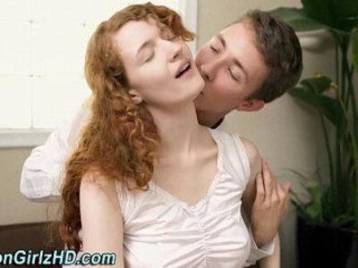 Teen mormon bends over | -sister-teen-