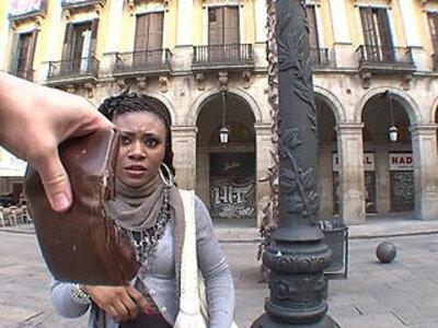 Illegal african girl fucks for money | -african-girl-money-