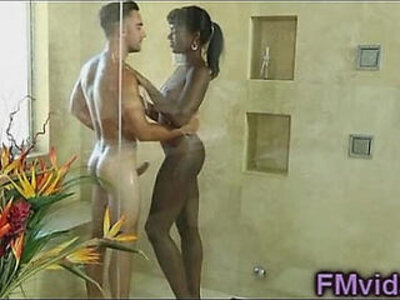 Ebony hottie Ana Foxx hot shower | -ebony-hottie-shower-