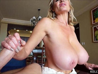 Huge titted wife kelly madison strokes and sucks cum from cock | -cock-cum-hubby-older-titjob-wife-