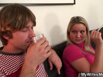Wife watches hubby do her old mom from behind   -ass fucking-forced-hubby-mom-older-wife-