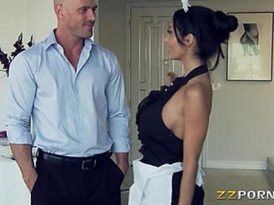 Huge hooters maid Ava Addams pounded with a massive black cock   -black cock-cock-maid-pounding-uniform-