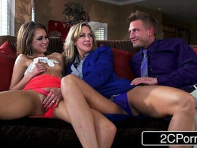 Little Slut Riley Reid Joins Married Couple with Big Tit Brandi Love | -bride-couple-love-sluts-swingers-