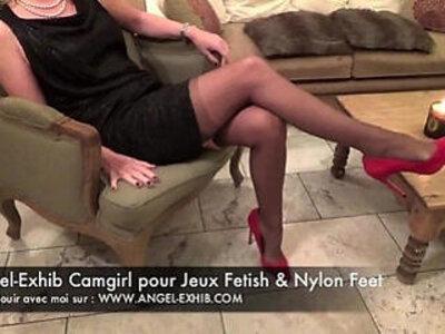 Fetish nylon pieds jambes et bas avec milf francaise en privee avec toi | -fetish-milf-nylons-son-