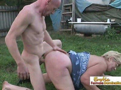 Old lady gets her pussy stuffed by a nasty bald stud | -bald pussy-granny-lady-nasty-older-pussy-
