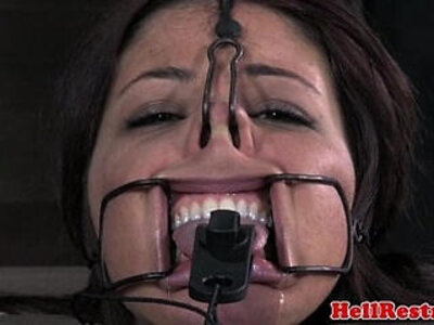 Tongue clamped bdsm sub pussy gets teased | -bdsm-pussy-tongue-
