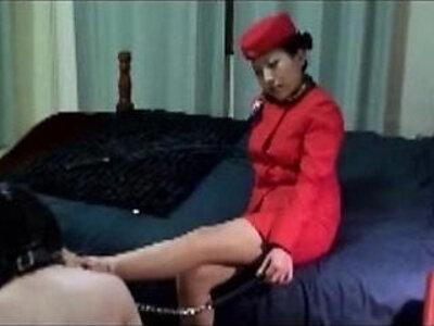 Asian Mistress Jane Stewardess Golden Shower   -asian-goldenshower-mistress-uniform-