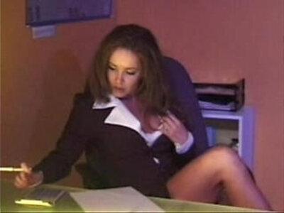 Envy Hot Brunette Secretary Masturbates and gets rough Anal Sex | -anal-brunette-masturbation-rough-secretary-