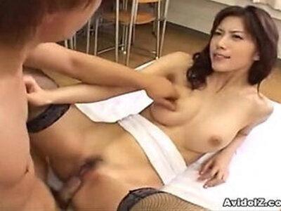 Hot Japanese babe fucked mercilessly | -classroom-japanese-
