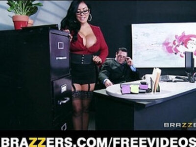 Big tit lingerie clad assistant Kiara Mia fucks boss at work | -ass to mouth-boss-lingerie-