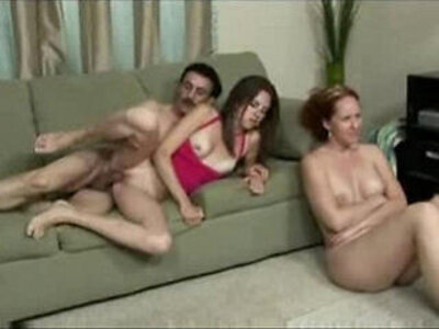 Wife watches husband fuck | -husband-old and young-wife-