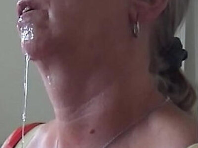 Aunty Shirley cumshot and swallow | -aunty-cumshots-perverts-swallow-