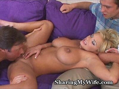 Big Tit Wifey Has Jealous Hubby   -hubby-swingers-