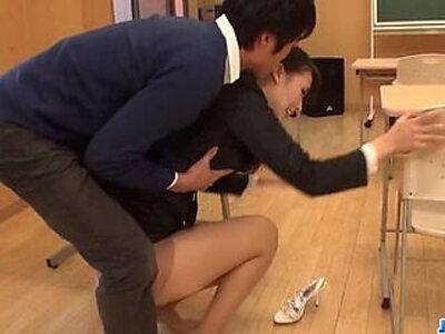 Dirty teacher Yui Oba goes sleazy on a tasty cock | -cock-dirty-teacher-