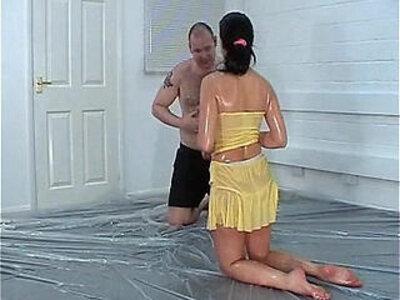Mixed Wrestling Yellow Peril Samantha | -oil-wrestling-